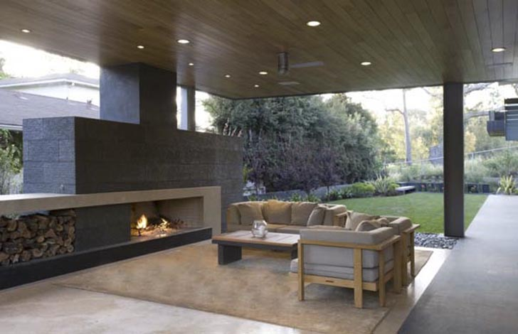 Outdoor Living Room Of Modern